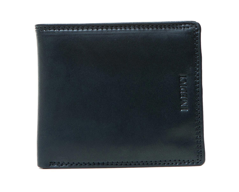 I Medici Bifold Credit Card Wallet for Men ID Window