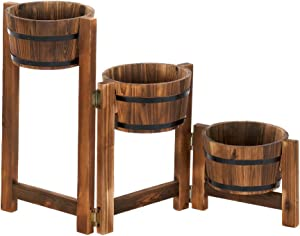 Koehler Home Indoor Outdoor Patio Lawn Garden Decorative Accent Apple Barrel Ladder Planter