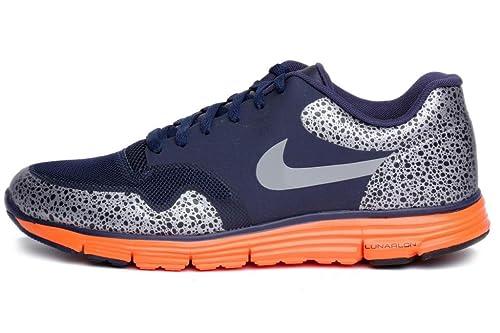 quality design a42bc aa779 Nike Lunar Safari Fuse + Midnight Navy Total Orange Dark Obsidian Wolf Grey  525059-488  Amazon.ca  Shoes   Handbags