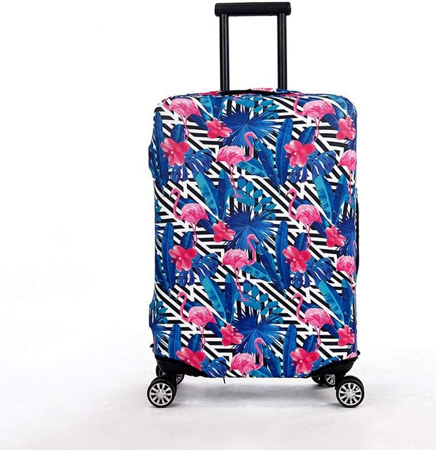 Trolley case Suitcase Cover It Has No Bad Smell Dustproof Wear-Resistant Non-Slip Four Seasons Available Spandex Suitcase Protector for 24-42 inch Elastic Stretch-Blue Bottom Flamingo Size : XL