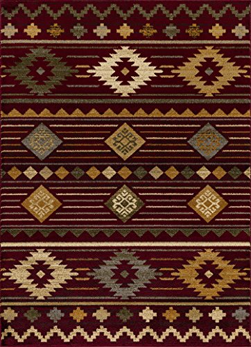 Mod-Arte | Crown Collection | Area Rug | Contemporary & Traditional Style | South Western Red | 7