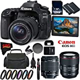 Canon EOS 80D DSLR Camera + 18-55mm Lens + Canon EF 85mm f/1.4L IS USM Lens + 128GB Memory Card International Version