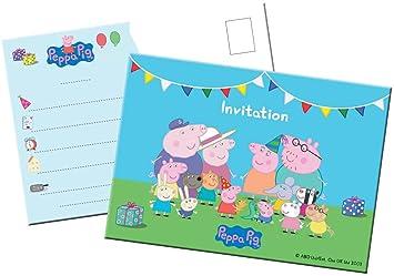 8 Tarjetas de invitación Peppa Pig: Amazon.es: Juguetes y juegos