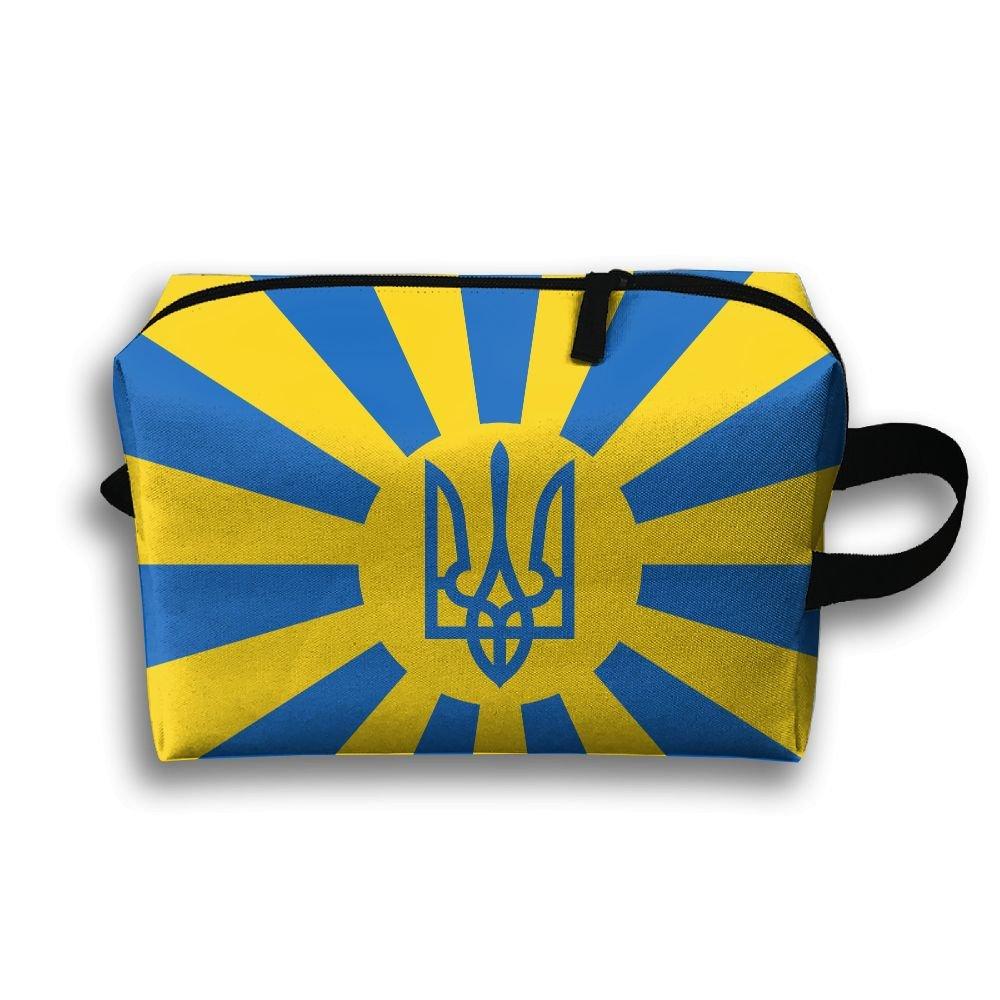 ウクライナフラグSmall Travel Toiletry Bagスーパーライトトイレタリーオーガナイザー一泊旅行用バッグ B07B9TQ7D1