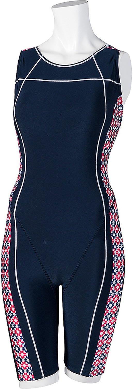 ellesse(エレッセ) レディース 競泳水着 プリントオールインワン ES47256 B001J9I74M Medium|ネイビーブルー×ホワイト(NW) ネイビーブルー×ホワイト(NW) Medium
