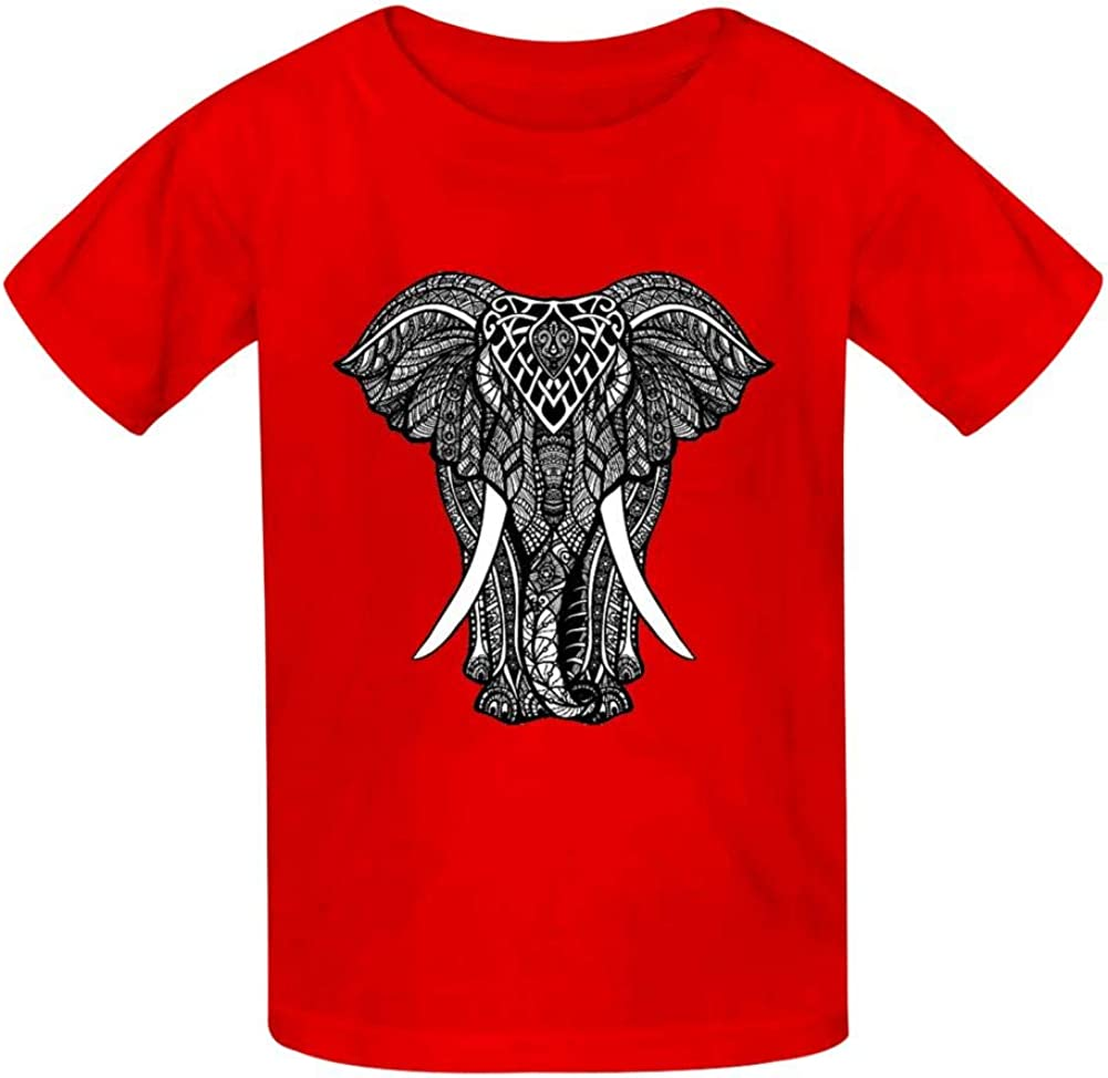 Shirt Kids 3D Printed Realistic 3D Digital Print Elephant Round Collar Short sleeve Kids T
