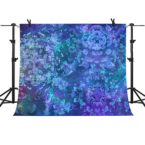MME 7x5Ft Abstraction Blue Theme Backdrop Flowers Background Party Photo Video Studio Photography ME005