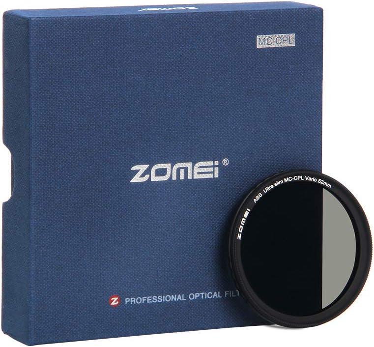ZOMEi 49mm Polarisationsfilter Optisches Glas /& Aluminium F/ür Foto-Kameraobjektive Polarisations-Filter Zirkularer Polfilter