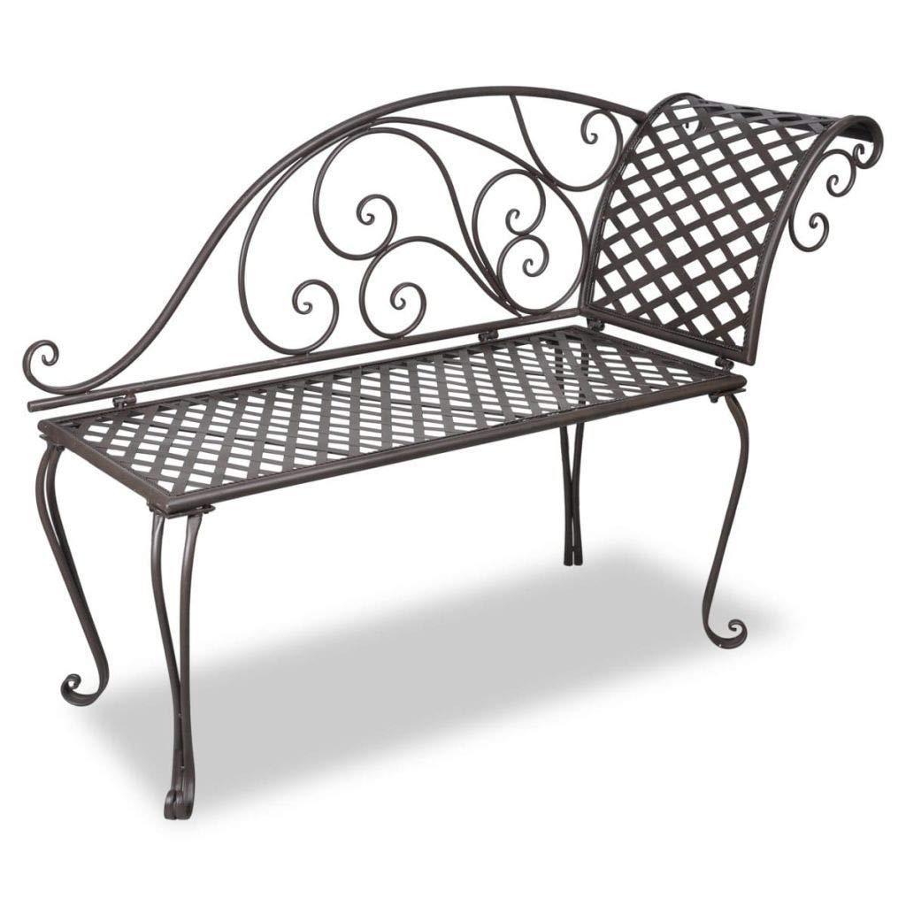 Amazing Amazon Com Clever Market Outdoor Patio Metal Garden Bench Theyellowbook Wood Chair Design Ideas Theyellowbookinfo