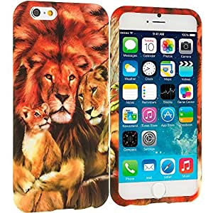 Accessory Planet(TM) Lion Family TPU Design Soft Rubber Case Cover Accessory for Apple iPhone 6 (4.7) wangjiang maoyi