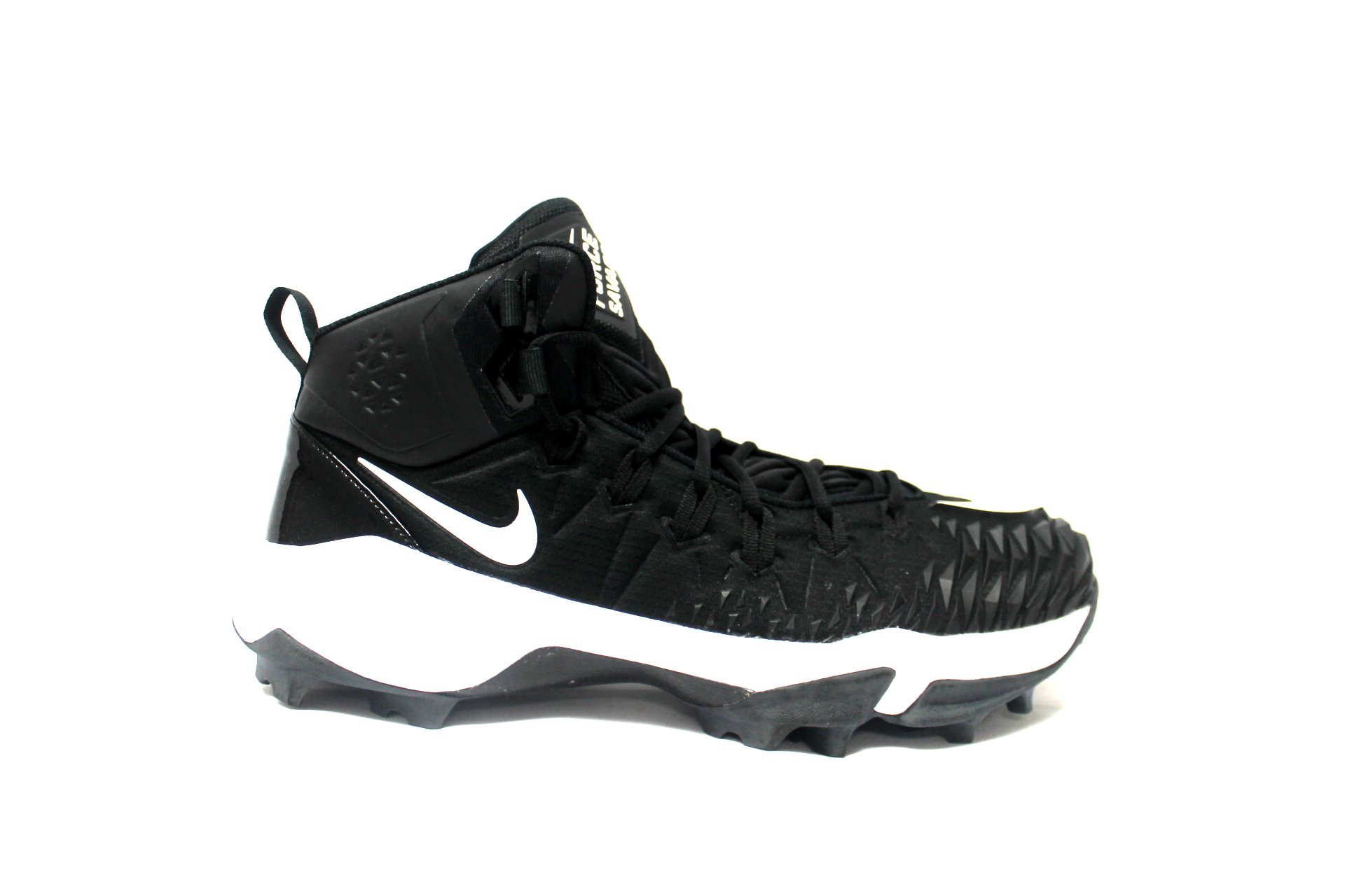 NIKE Men's Force Savage Shark Football Cleat (14, Black/White)