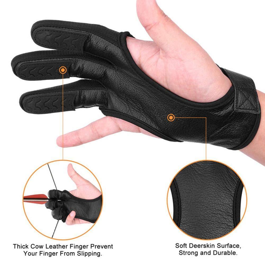 Gant de Protection Archer Longbow Chasse Garde Protecteur Main pour Main Gauche et Main Droite Kindness awhao /Gants de tir Traditionnels
