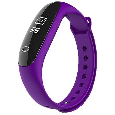 Bracelet Intelligent Pression Artérielle Pression Artérielle Braguleur De Surveillance De L'oxygène Calibreurs étanches à L'eau Surveillance Du Sommeil Surveillance Sportive,Purple-OneSize