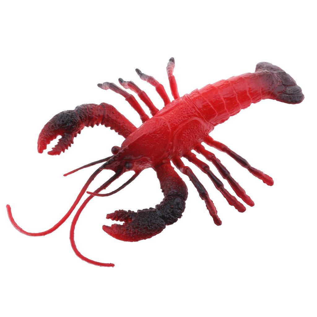 Homyl Modelo de Exhibición de Animales Marinos Multiusos Herramientas Manuales Eléctricas - Cangrejo Rojo - B
