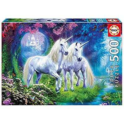 Educa 500 Pc Unicorns in The Forest Puzzle: Toys & Games