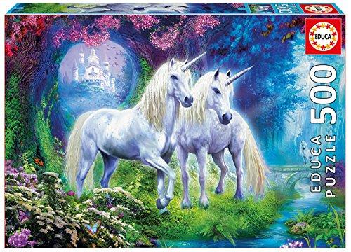 Educa 500 Pc Unicorns in the Forest Puzzle -