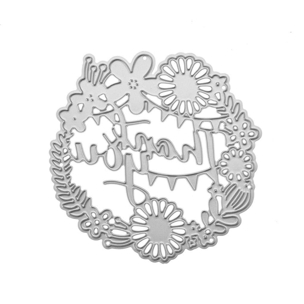 Lorsoul Artigianato d'Arte - Acciaio al Carbonio Grazie Modello Lettera Fustelle Stencil, Ambientale, per Album/Photo Album - 79 * 80MM