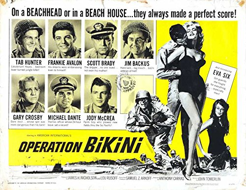 Reproduction of a poster presenting - Operation Bikini 02 - A3 Poster Print Buy Online