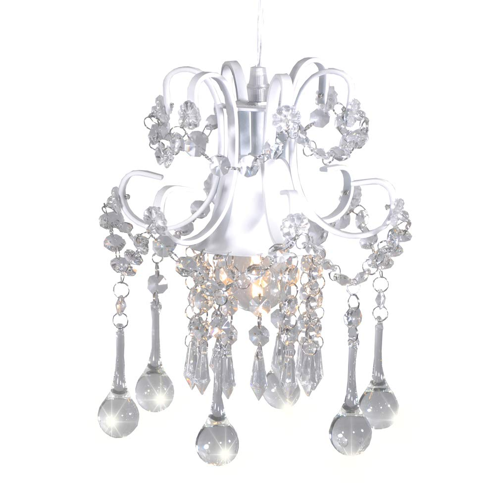 Mini style crystal chandelier pendant light white1 light
