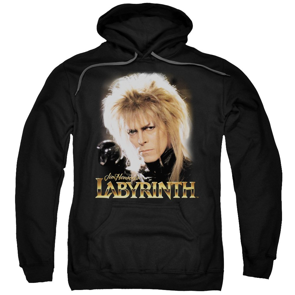 Labyrinth 1980's Movie Jim Henson David Bowie areth Adult Pull-Over Hoodie Trevco