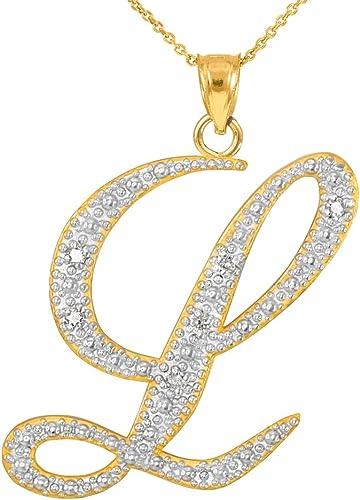 De 9 quilates de oro amarillo Cz inicial Colgantes Regalo En Caja