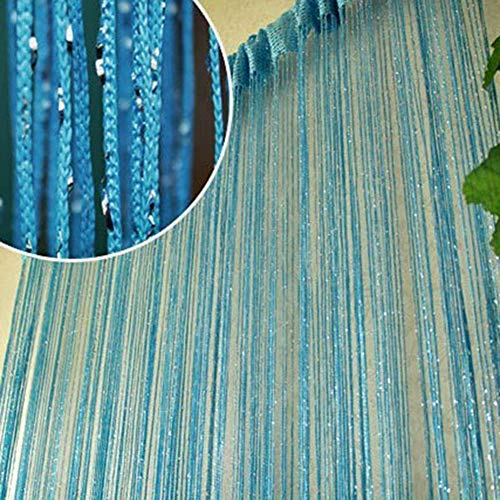 (Norbi Vogue Tassel String Door Window Room Divider Partition Curtain Valance (Blue))