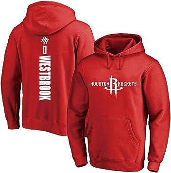 NBA Rockets 0# Westbrook Sudadera con Capucha De Baloncesto Hombre ...
