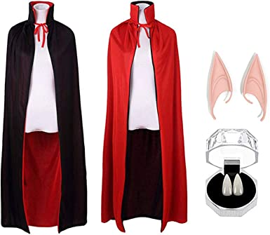 Halloween Dracula Vampire Red Devil Cape Vampires Ladies Men/'s Costume Accessory