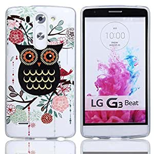 Yakamoz Lovely Cute Birds Owl Series Black Owl Gel Soft TPU Case Cover for LG G3 Beat, LG G3 VIGOR, LG G3 Mini, LG G3s (Not for LG G3) with Free HD Screen Protector & Stylus Pen