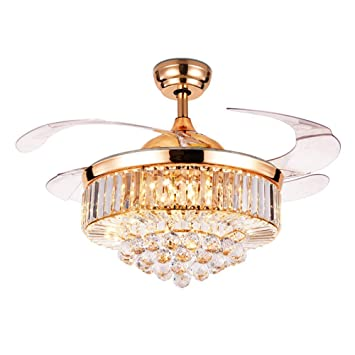 Lámpara de techo de 42 pulgadas de cristal con mando a distancia ...