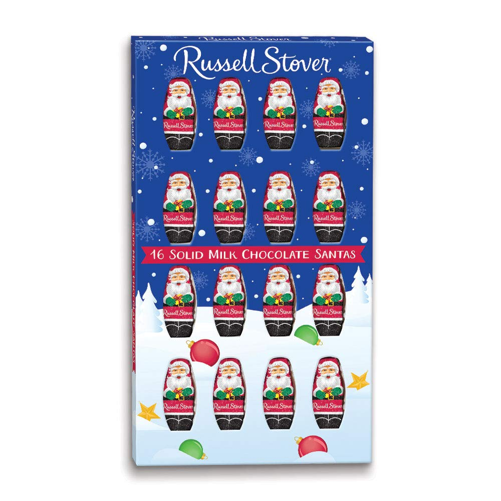 CDM product Russell Stover Solid Milk Chocolate Santas, 4 Ounce, 6 Count big image