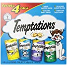 TEMPTATIONS Classic Cat Treats, Classic Flavor Variety Pack, 3oz. (Pack of 4)