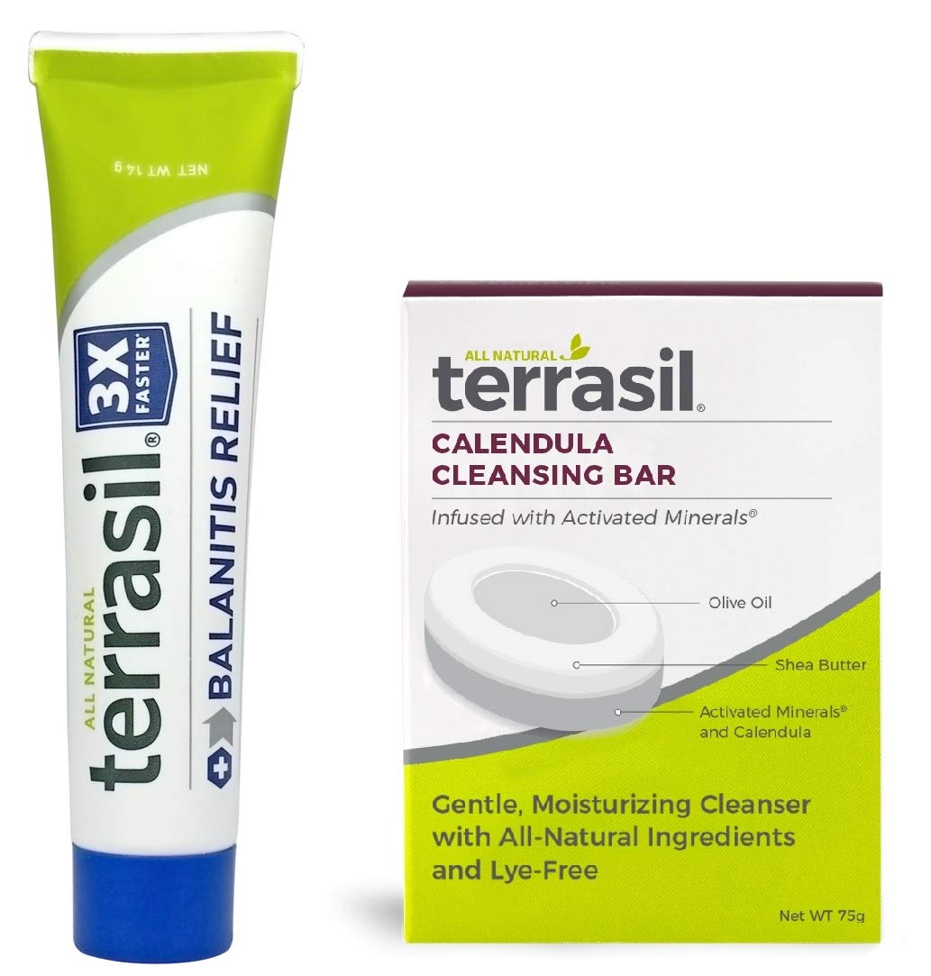 Balanitis Relief with Calendula Soap - Guaranteed Patented All Natural Gentle Skin Relief Ointment for Relief from Irritation Itch Redness Infection Inflammation Symptoms by Terrasil by Aidance Skincare & Topical Solutions