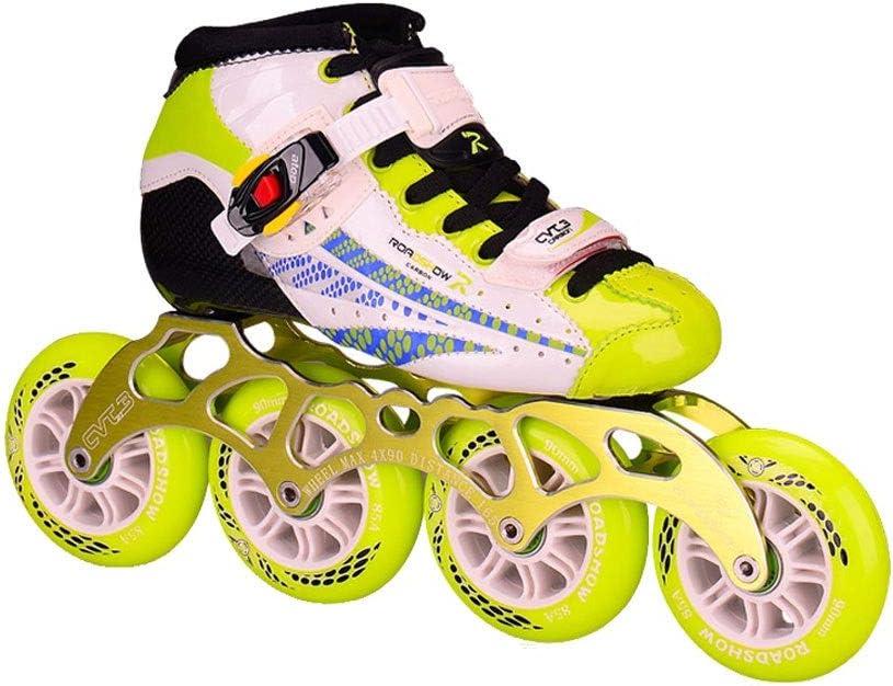 男性と女性のためのインラインスケート インラインスケート、 ハイコンフィグ大人用1列スケート 熱可塑性炭素繊維ベース プロのローラースケート 3色 耐摩耗性と通気性 (Color : ピンク, Size : L (EU36-EU37)) ピンク L (EU36-EU37)