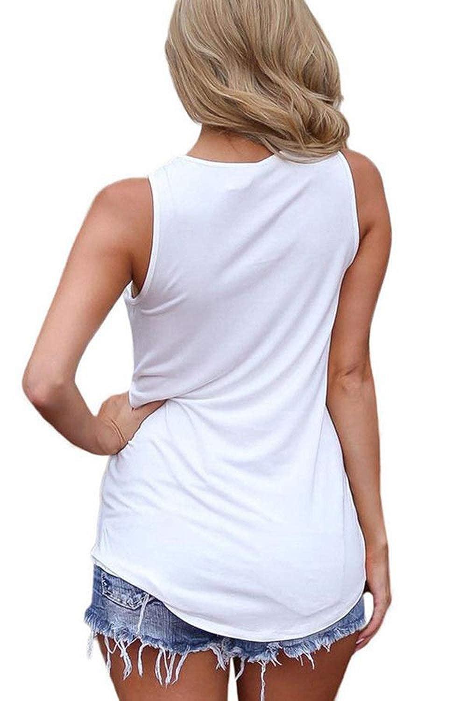 Sarin Mathews Womens Tank Tops Summer Sleeveless Shirts Criss Cross Casual Basic Tee Shirts Tops Blouses