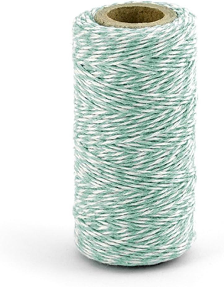 Rollo de 50 M Cordón 100 % Algodón Blanco a Espiral Tiffany Ideal ...