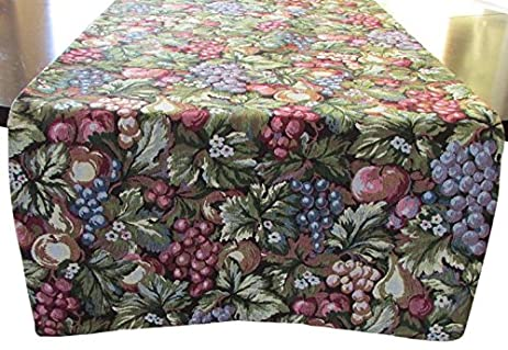 Corona Decor Alexis Extra Wide Italian Woven Table Runner, 95 By 26 Inch