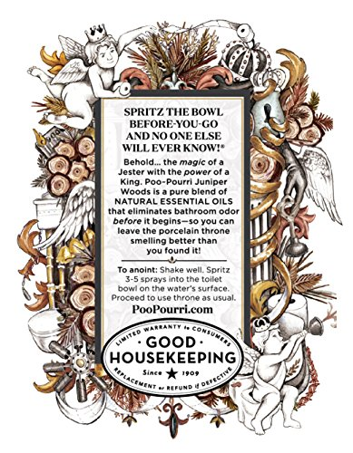 Poo-Pourri Before-You-Go Toilet Spray 4-Ounce Bottle, Juniper Woods Scent - incensecentral.us