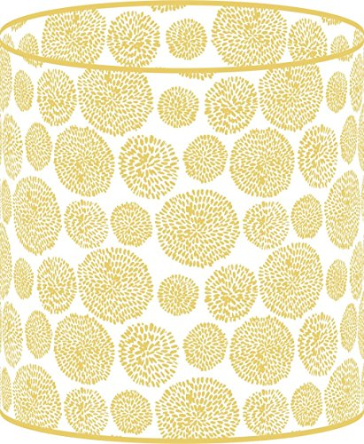 LampPix 10 Inch Custom Printed Table Desk Lamp Shade Nouveau Circles Gold (Spider Fitting)