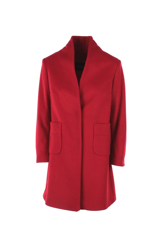 PARIS LONDON Cappotto Donna 46 Rosso Zoe Panno Autunno Inverno 2018/19