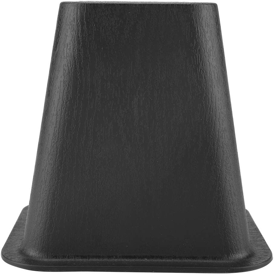 Aid for Raising Bed Chair etc. Black Zerone 4 Piece Plastic Stackable Bed or Furniture Risers