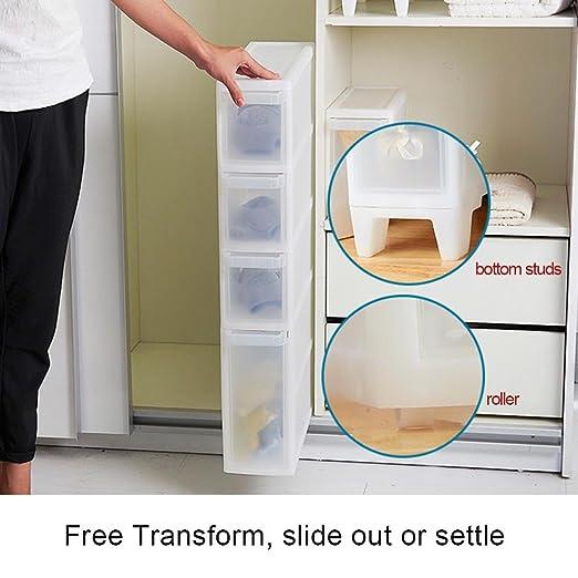 asvert 4 niveles de almacenamiento de carro cajón Torre para ropa ...