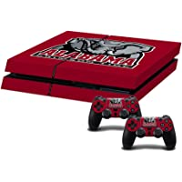 ASG Deep Red Football Team Theme Protective Skin Decal Sticker Set Designed for PS4 controllers and console Alabama