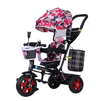 HYRL Triciclo Multifuncional para niños, Carro de bebé ...