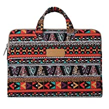 Mosiso Bohemian Style Canvas Fabric 11-11.6 Inch Carry Case for Acer Chromebook 11, C720, C720P, C740 / HP Stream 11 / Samsung Chromebook 2 / Notebook Computer / MacBook Air,Phoenix