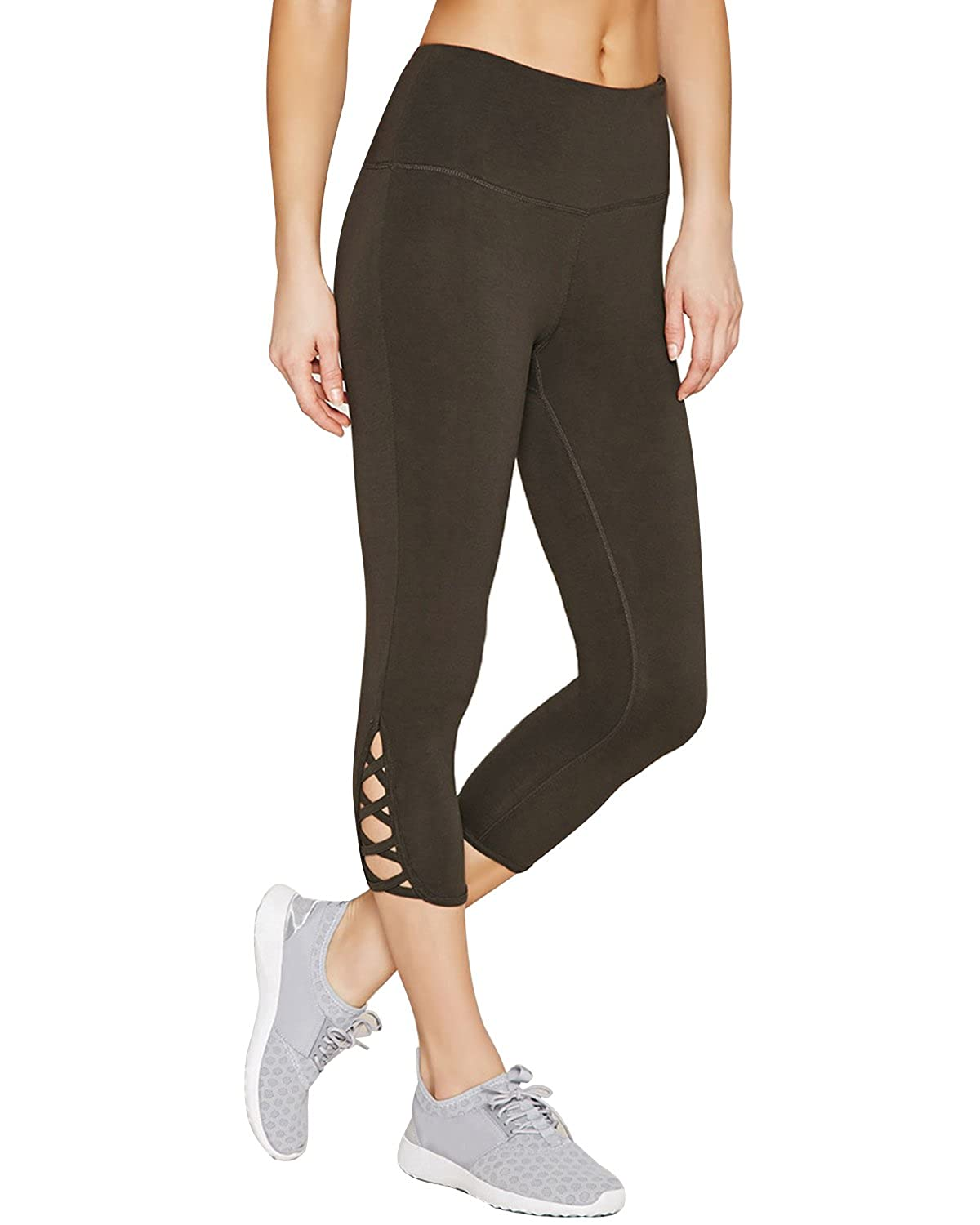 1b1c1ece0425d Kidsform Women Yoga Pants High Waist Strappy Side Skinny Leggings Workout  Running Pants with Hidden Pocket at Amazon Women's Clothing store: