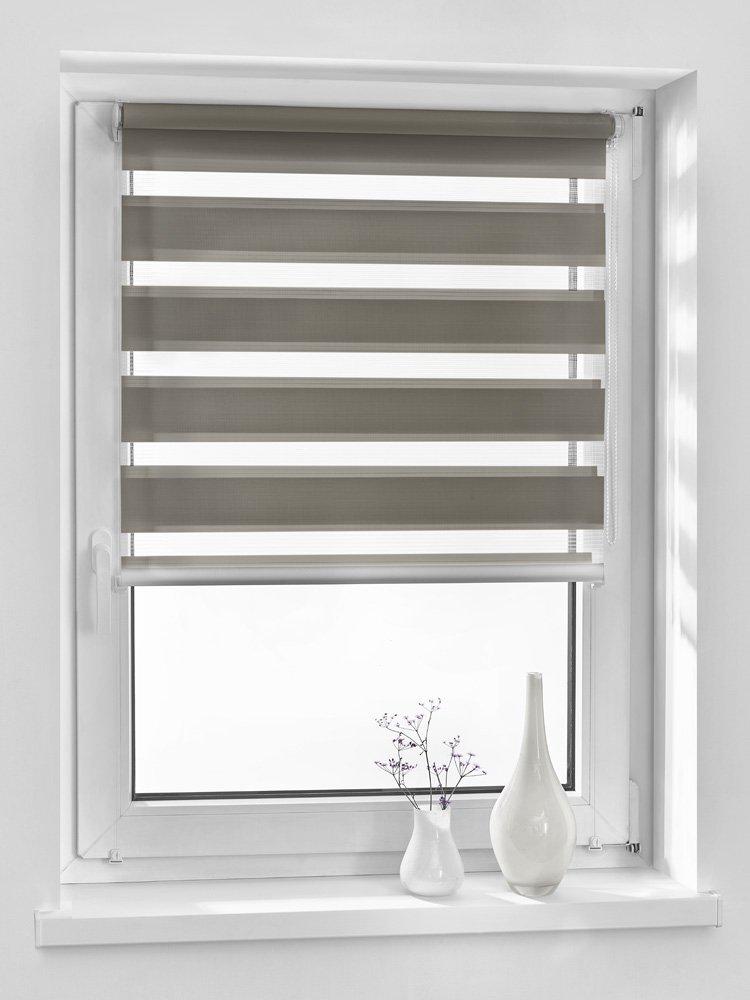 Vidella GGB-1 - Persiana avvolgibile oscurante, colore bianco, Marrone, ZZ-10 69b