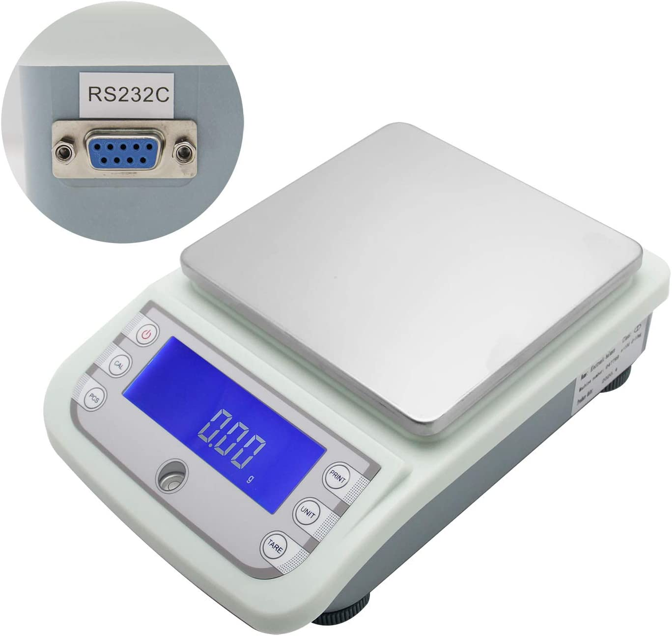 CGOLDENWALL 5000g 5kg 0.01g Lab Analytical Balance Digital Precision Electronic Scale Analytical Counter Automatic Calibration Commercial Scale High Precision Output RS232 and Automatic Calibration