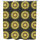 Uneekee Golden Chariot Shower Curtain: Large Waterproof Luxurious Bathroom Design Woven Fabric