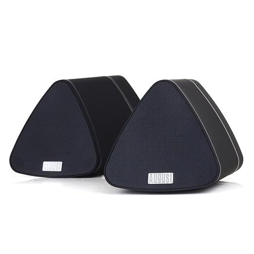 95 opinioni per August MS515 – Coppia di Altoparlanti Stereo Bluetooth Portatili – 2x5W